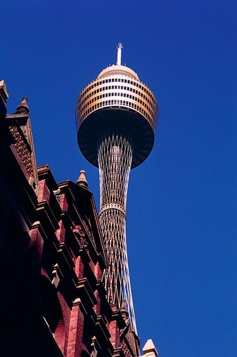 Low angle view of a tower, Centrepoint Tower, Sydney, New South Wales, Australia : Stock Photo
