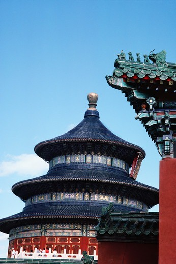 Stock Photo: 4009-1157 Low angle view of a temple, Temple Of Heaven, Beijing, China