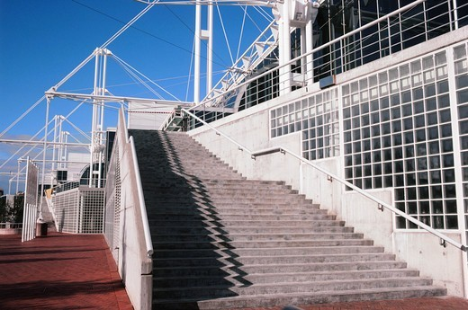 Stock Photo: 4009-1168 Steps of a building, Sydney Exhibition And Convention Centre, Darling Harbor, Sydney, New South Wales, Australia