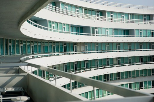Stock Photo: 4009-849 Balconies at Fountainbleu Hotel, Miami Beach, Miami-Dade County, Florida, USA