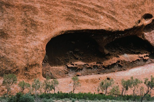 Stock Photo: 4009-989 Sandstone rock formations, Uluru, Uluru-Kata Tjuta National Park, Northern Territory, Australia