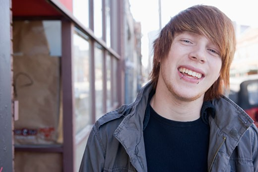 Stock Photo: 4011-568 Close-up of a teenage boy smiling