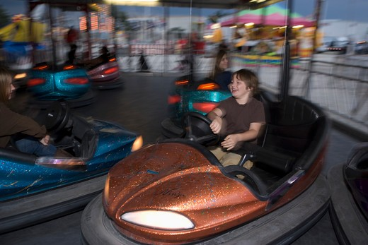 Stock Photo: 4011-703 Children riding bumper car