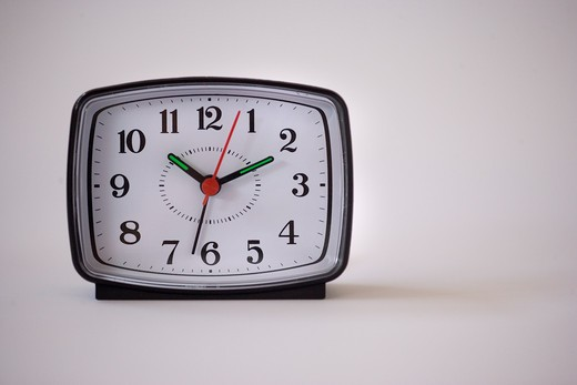 Close-up of an alarm clock : Stock Photo