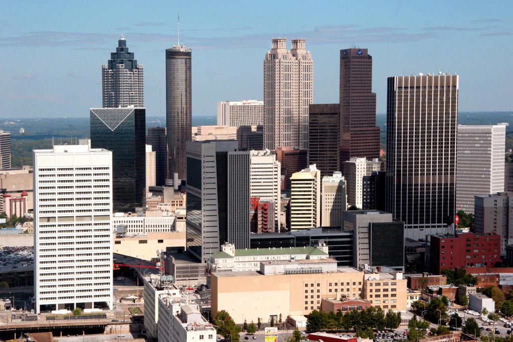 Stock Photo: 4017-1264 Downtown Atlanta