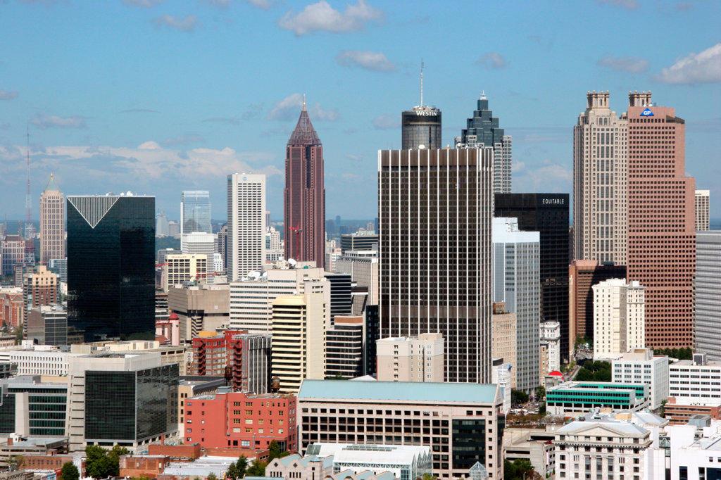 Stock Photo: 4017-1273 Downtown, Atlanta, Georgia