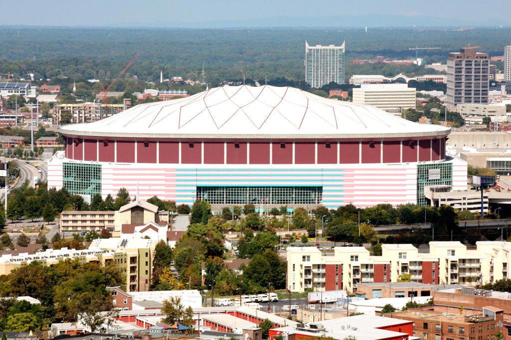 Stock Photo: 4017-1276 Georgia Dome Atlanta, Georgia
