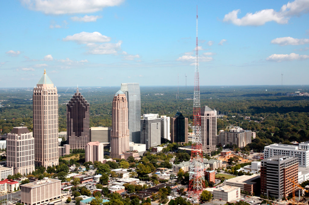 Stock Photo: 4017-1307 Midtown, Atlanta, Georgia