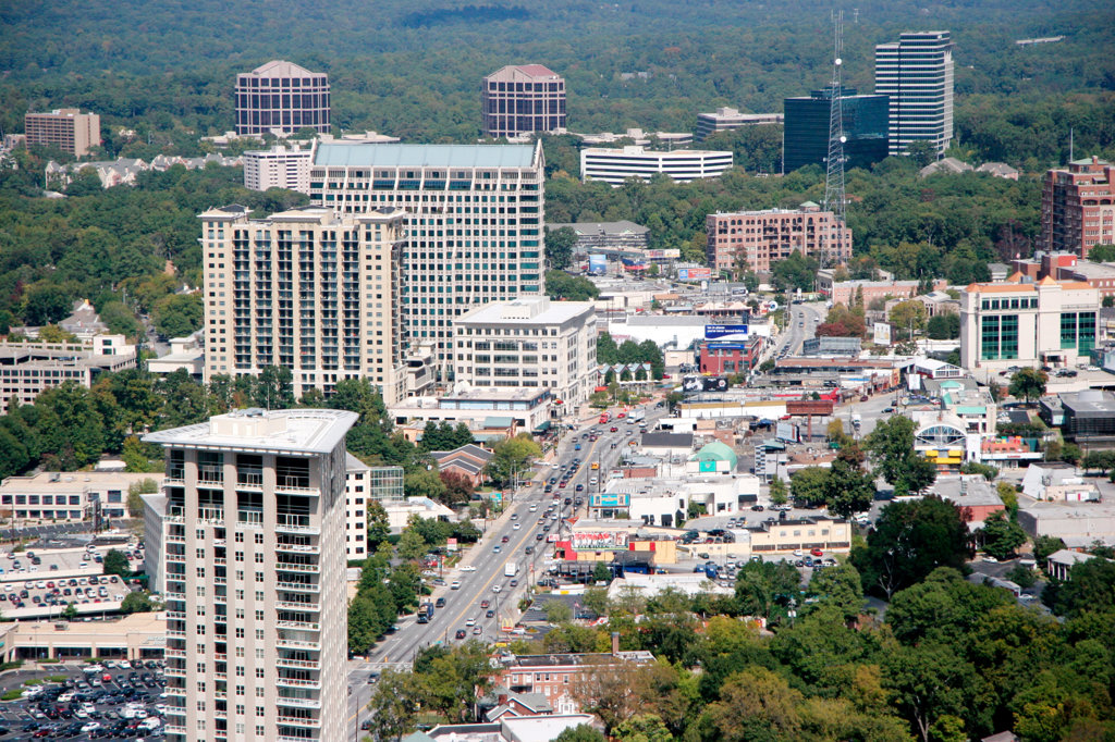 Stock Photo: 4017-1315 Buckhead area of Atlanta