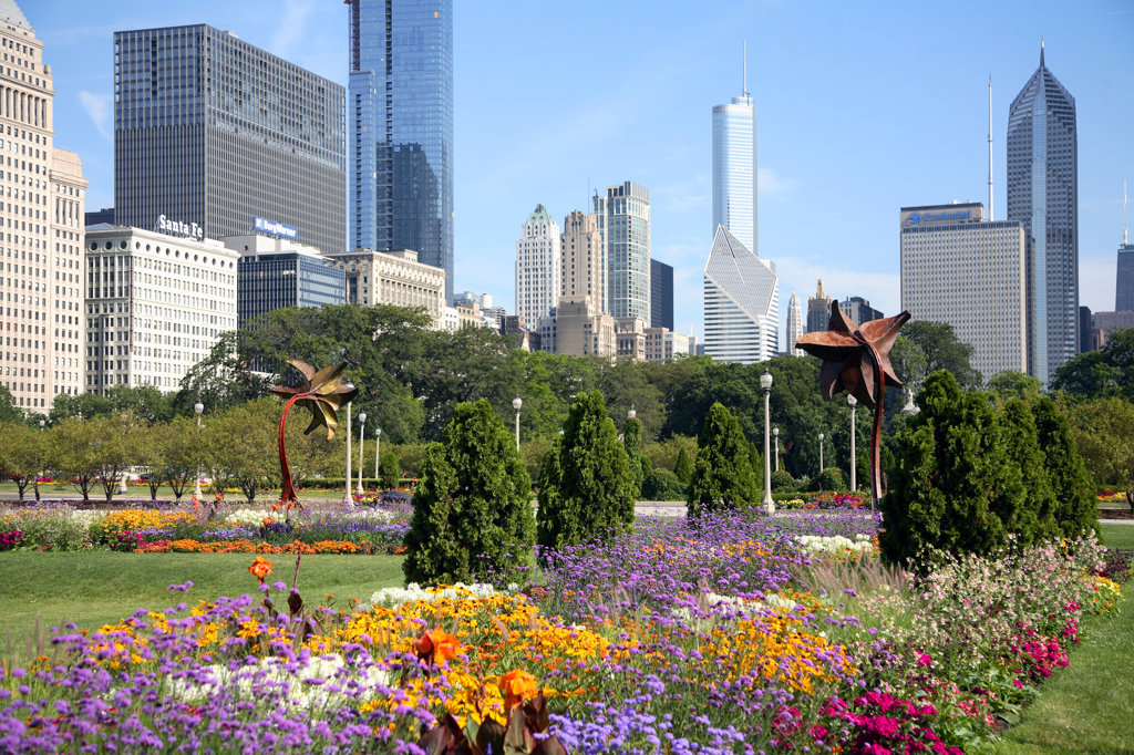 Stock Photo: 4017-1506 Grant Park, Chicago