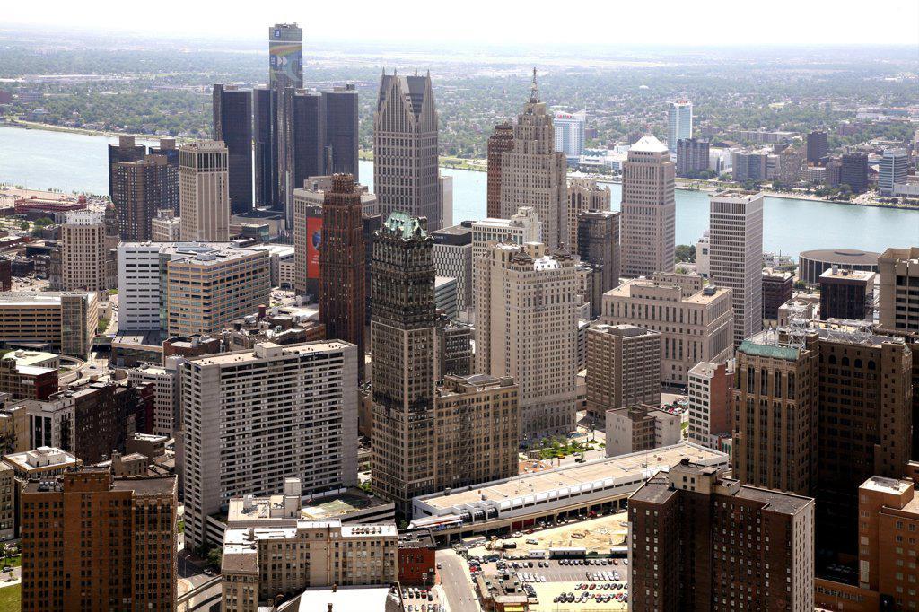 Stock Photo: 4017-154 USA,   Michigan,   Detroit,   Cityscape