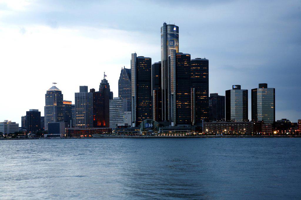 USA,   Michigan,   Detroit,   Renaissance Centre : Stock Photo