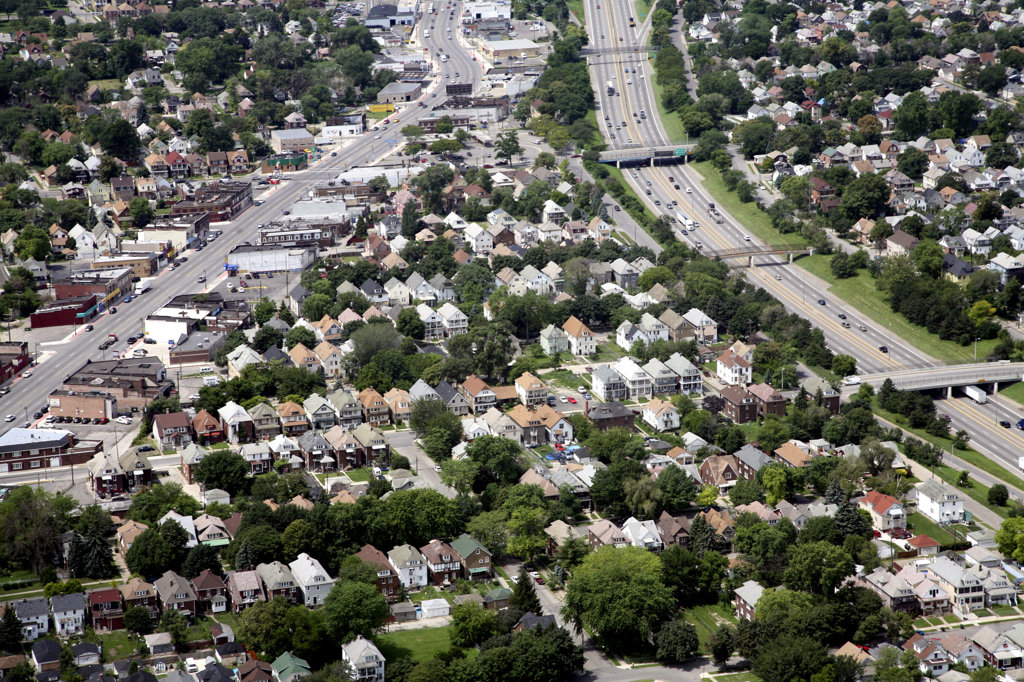 Stock Photo: 4017-159 USA,   Michigan,   Detroit,   Suburbs
