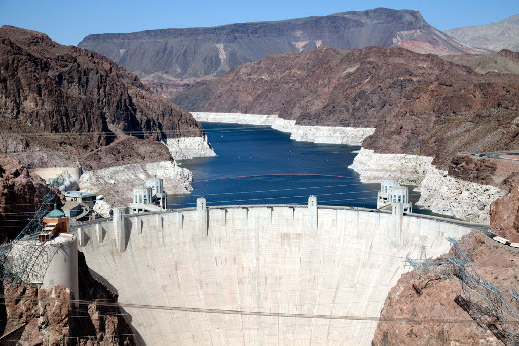 Hoover Dam near Boulder City in Nevada and Arizona : Stock Photo