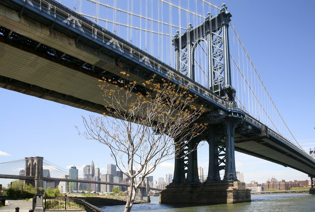 USA,   New York State,   New York City,   Manhattan,   Manhattan Bridge : Stock Photo