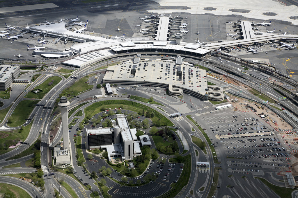 Stock Photo: 4017-244 USA,   New Jersey,   Newark International Airport,   aerial view