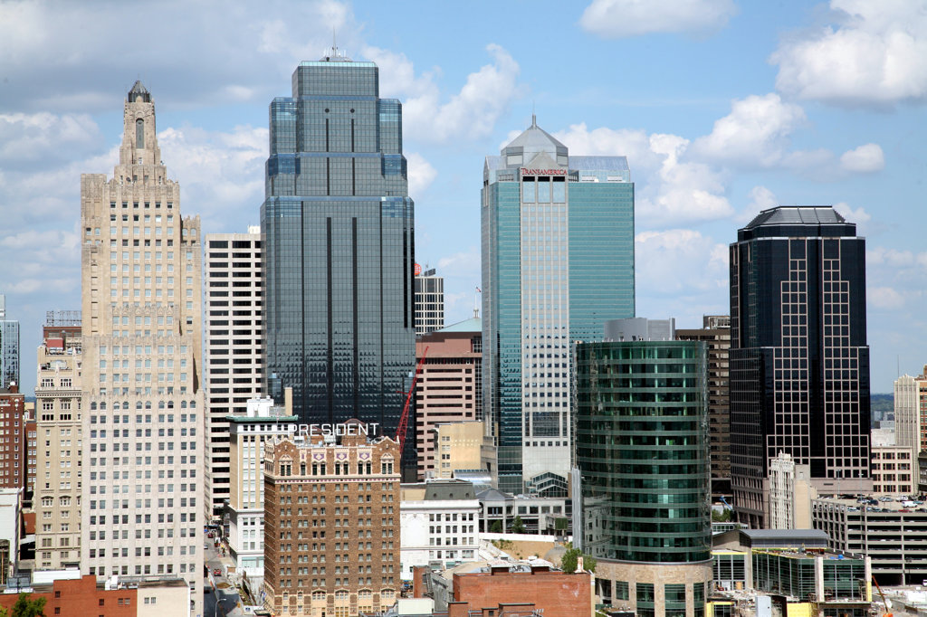 Central Business District of Kansas City, Missouri, USA : Stock Photo