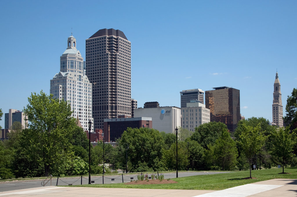 Stock Photo: 4017-2549 Buildings in a city, Hartford, Connecticut, USA
