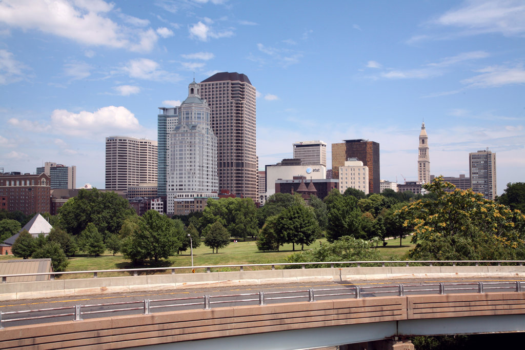 Stock Photo: 4017-2555 Buildings in a city, Hartford, Connecticut, USA