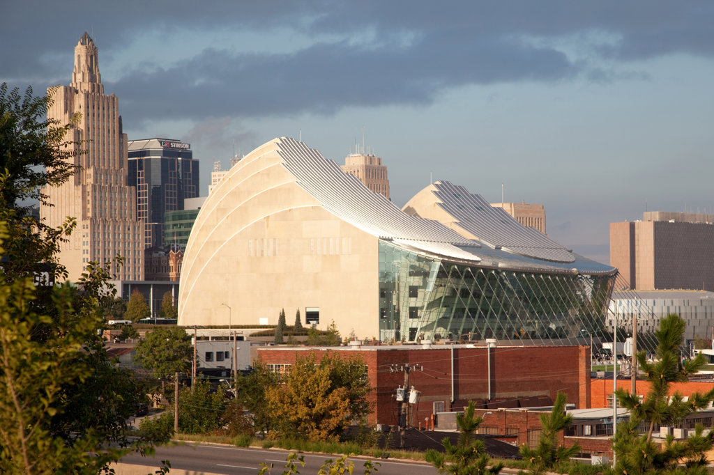 The Kauffman Center for the Performing Arts in downtown Kansas City, Missouri, USA : Stock Photo