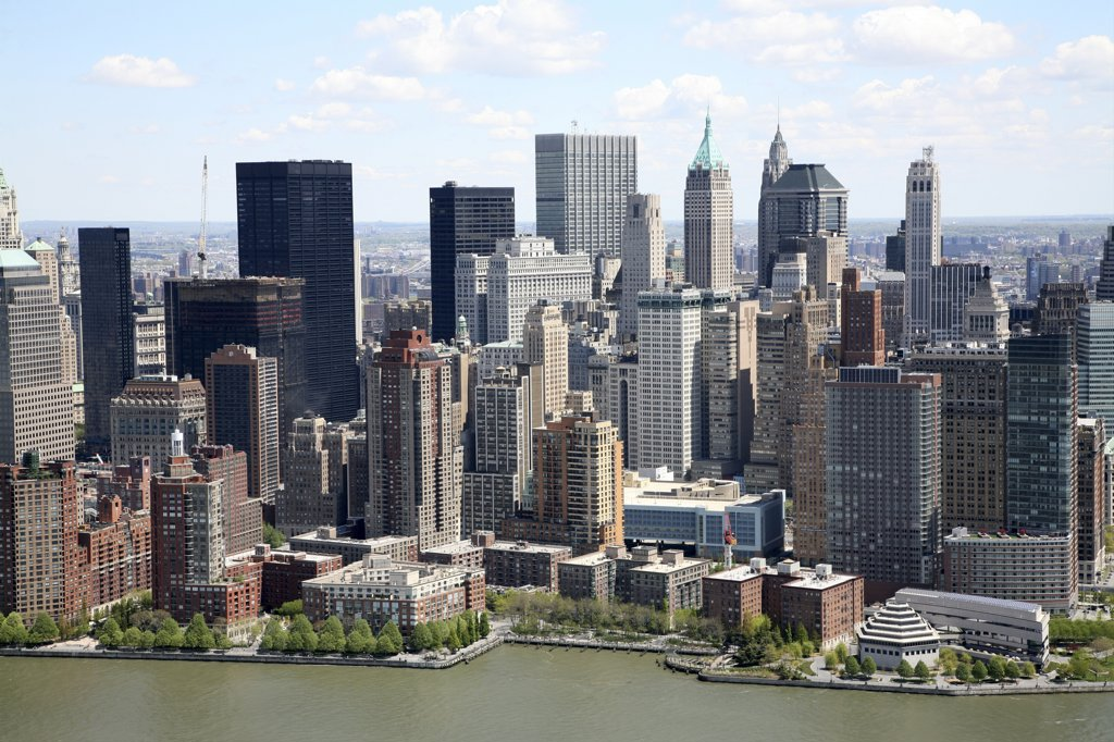 USA,   New York State,   New York City,   Manhattan,   waterfront skyline : Stock Photo