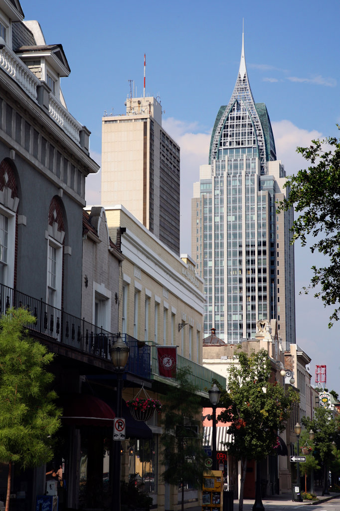 Skyscrapers in a city, RSA Battle House Tower, Mobile, Alabama, USA : Stock Photo