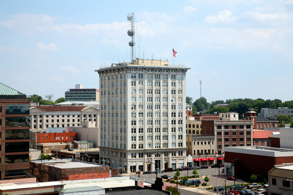Stock Photo: 4017-2759 Buildings in a city, Montgomery, Alabama, USA