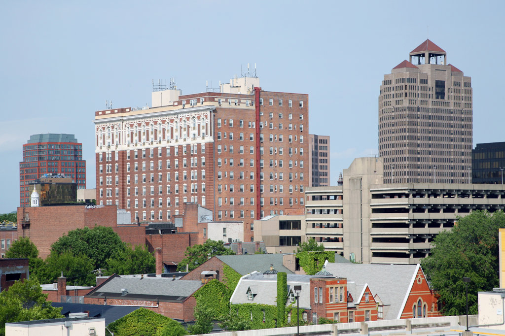 Stock Photo: 4017-2764 Buildings in a city, New Haven, Connecticut, USA