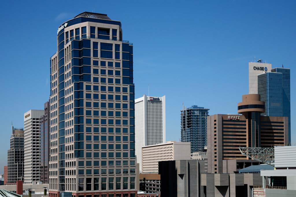 Skyscrapers in a city, Bank of America Tower, Phoenix, Arizona, USA : Stock Photo