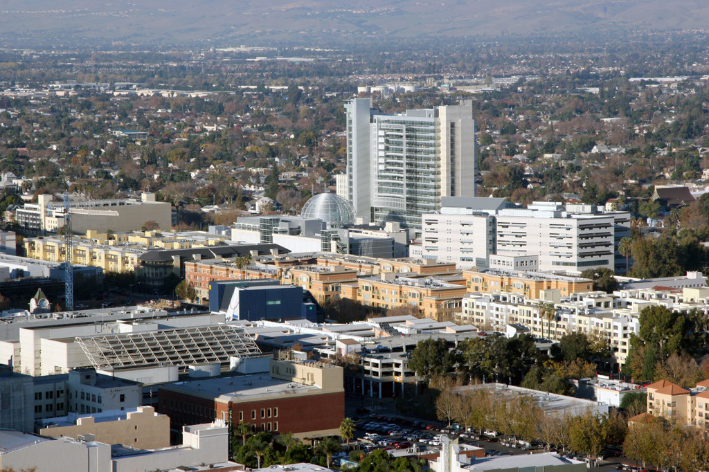 Aerial view of a city, San Jose, California, USA : Stock Photo