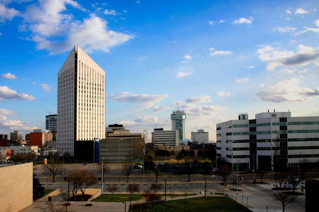 Buildings in a city, Epic Center, Wichita, Kansas, USA : Stock Photo