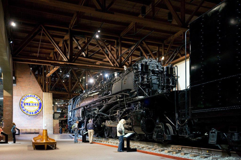 Stock Photo: 4017-3379 California State Railroad Museum, Sacramento California