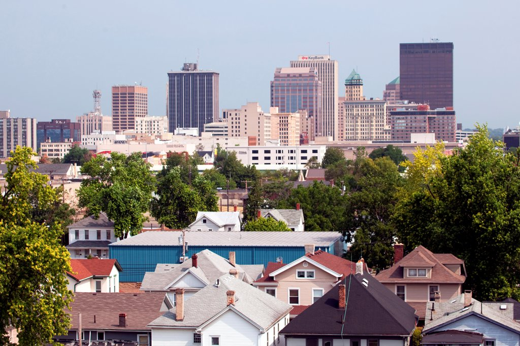 Downtown Dayton, Ohio Skyline : Stock Photo