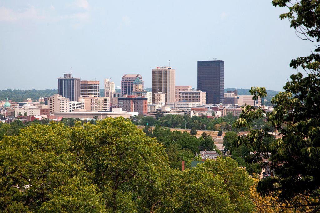 Stock Photo: 4017-3536 Downtown Dayton, Ohio Skyline
