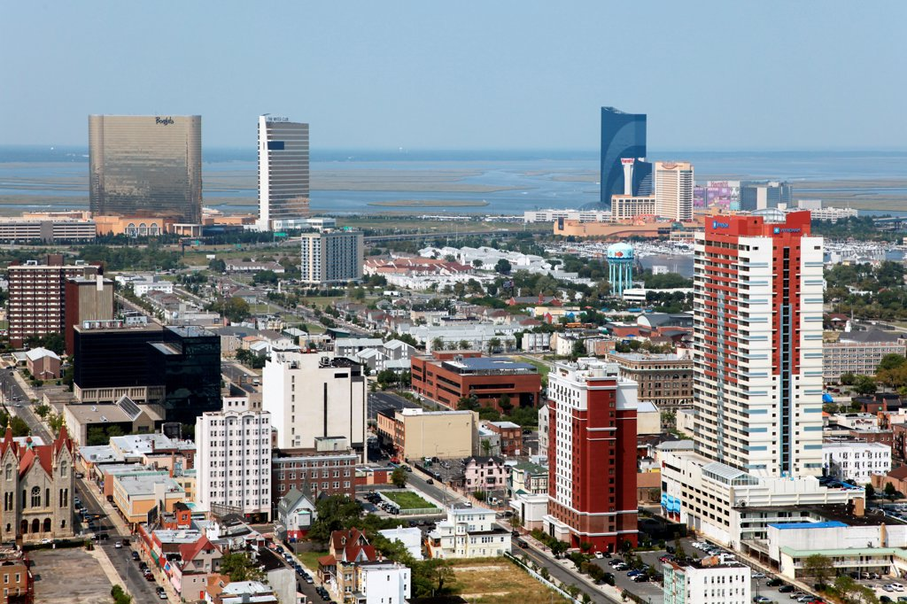 Stock Photo: 4017-3664 USA, New Jersey state, Atlantic City, Skyline