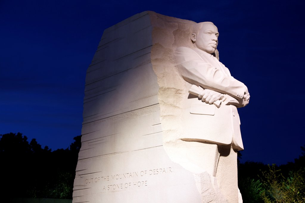 Stock Photo: 4017-3712 Martin Luther King Memorial, Washington, DC