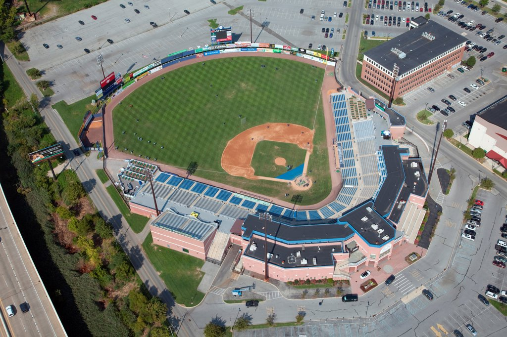 Stock Photo: 4017-3726 USA, Pennsylvania, Wilimington, Delaware, Aerial view of Frawley Stadium