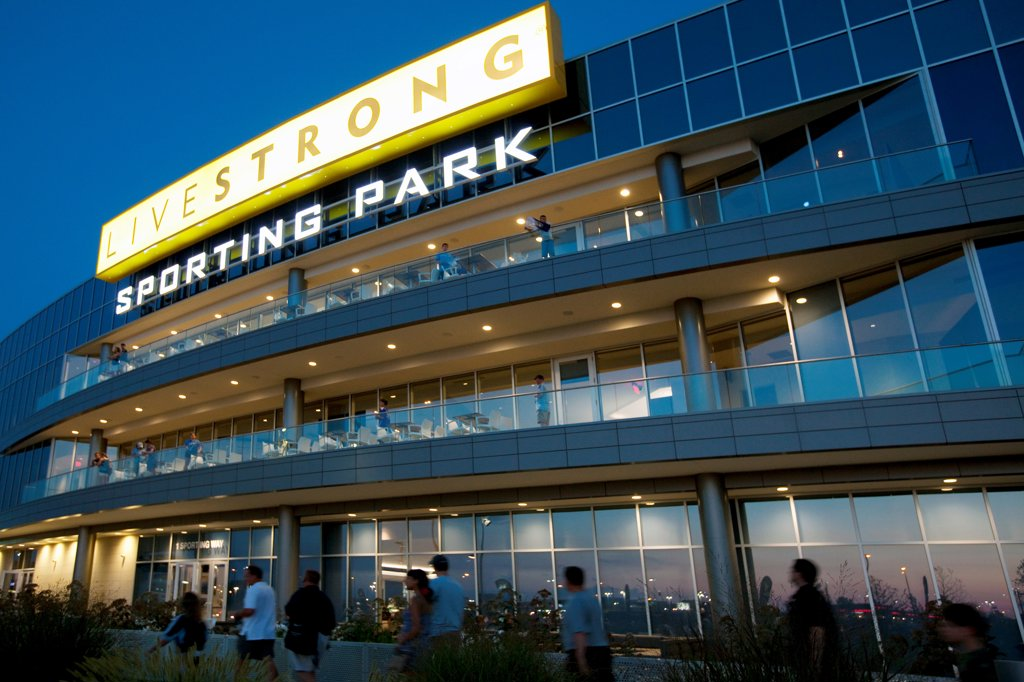 Stock Photo: 4017-3783 USA, Missouri, Kansas City, Livestrong Sporting Park, home of Sporting Kansas City of Major League Soccer in KCK