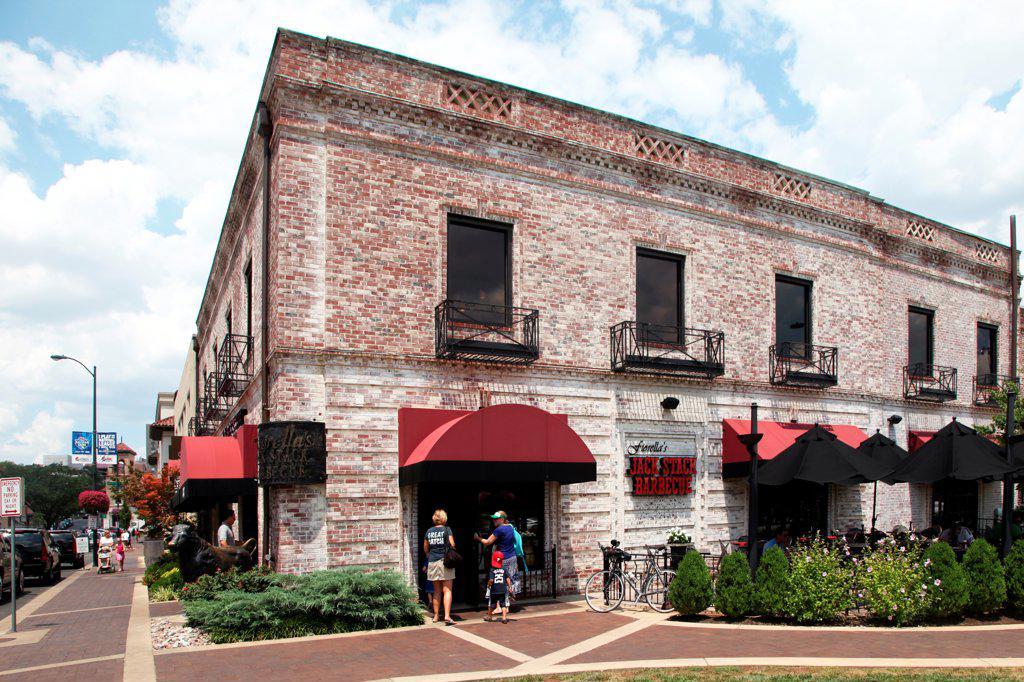 Stock Photo: 4017-3798 USA, Missouri, Kansas City, Plaza location of Fiorella's Jack Stack Barbeque
