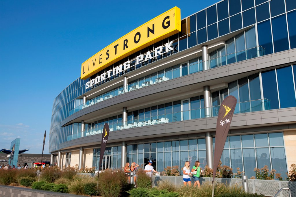Stock Photo: 4017-3802 USA, Missouri, Kansas City, Livestrong Sporting Park, home of Sporting Kansas City of Major League Soccer in KCK