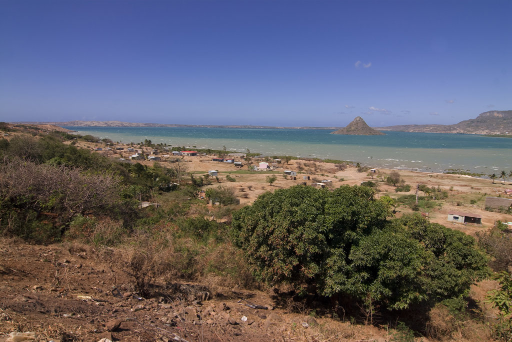 Madagascar, Savannah at coast of Diego Suarez in north of island : Stock Photo