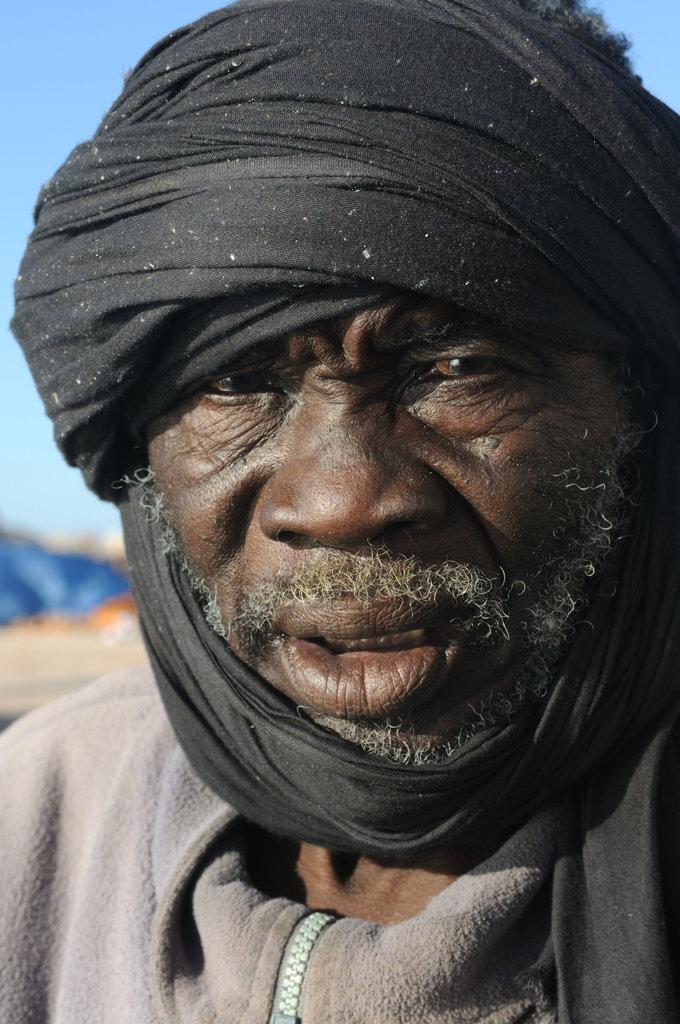 Stock Photo: 4021-2115 Mauritania, Banc d´Arguin, Portrait of Imraguen fisherman