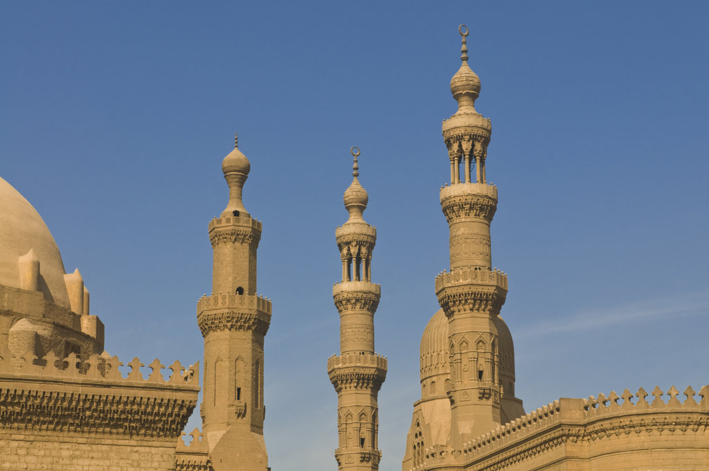 Egypt, Cairo, Minarets of mosque : Stock Photo