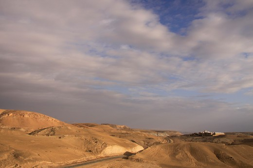 Clouds over desert, Nabi Musa, Judean Desert, Israel : Stock Photo