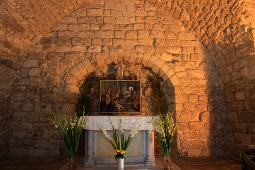 Stock Photo: 4023-391 Altar in a church, Nazareth, Lower Galilee, Israel