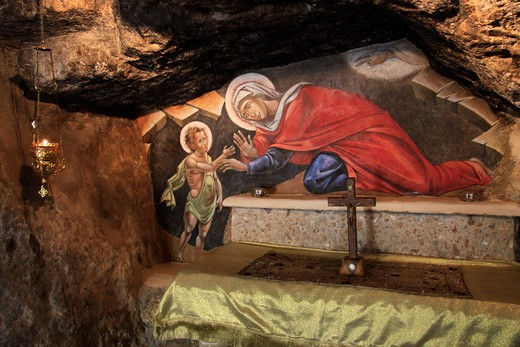 Painting in a church, Monastery Of St. John, Jerusalem Mountains, Israel : Stock Photo