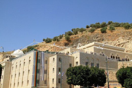Tomb of Moses father-in-law Jethro, Jethro's Grave, Nabi Shueib, Galillee, Israel : Stock Photo