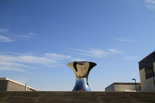 Metal sculpture at a museum, Israel Museum, Jerusalem, Israel : Stock Photo