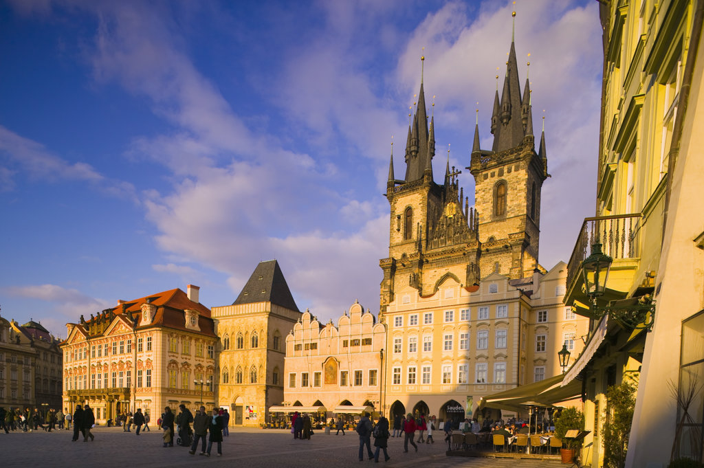 Stock Photo: 4026-106 Tyn Church Old Town Square Prague Czech Republic