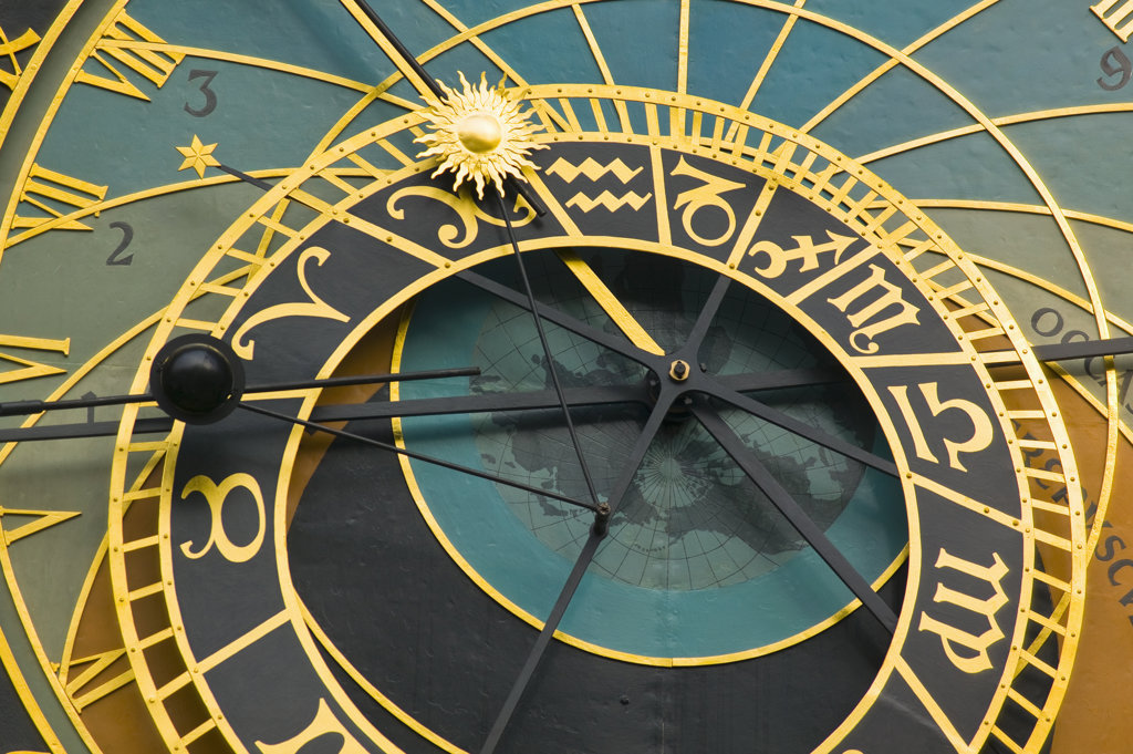 Stock Photo: 4026-112 Astronomical clock Old Town Square Prague Czeck Republic